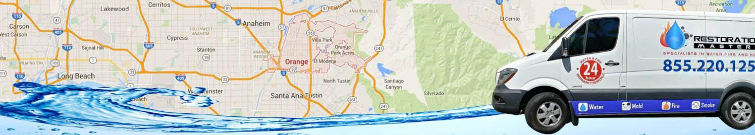 water damage removal Orange, California